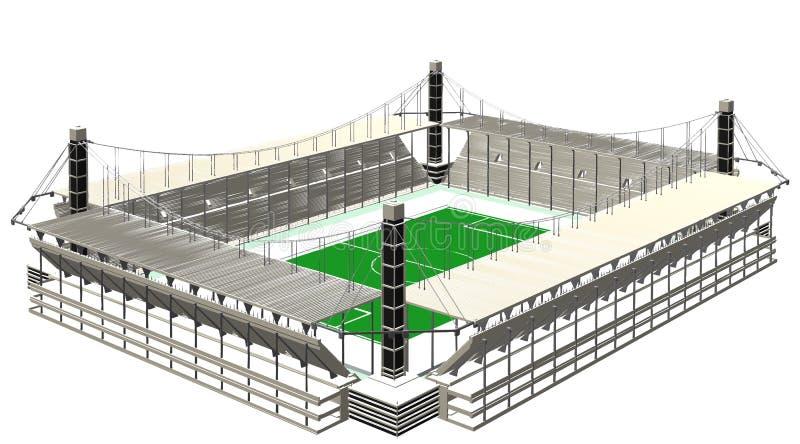 Vetor do estádio de futebol do futebol ilustração do vetor