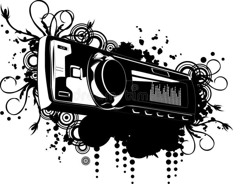 Vetor do estéreo do carro ilustração do vetor