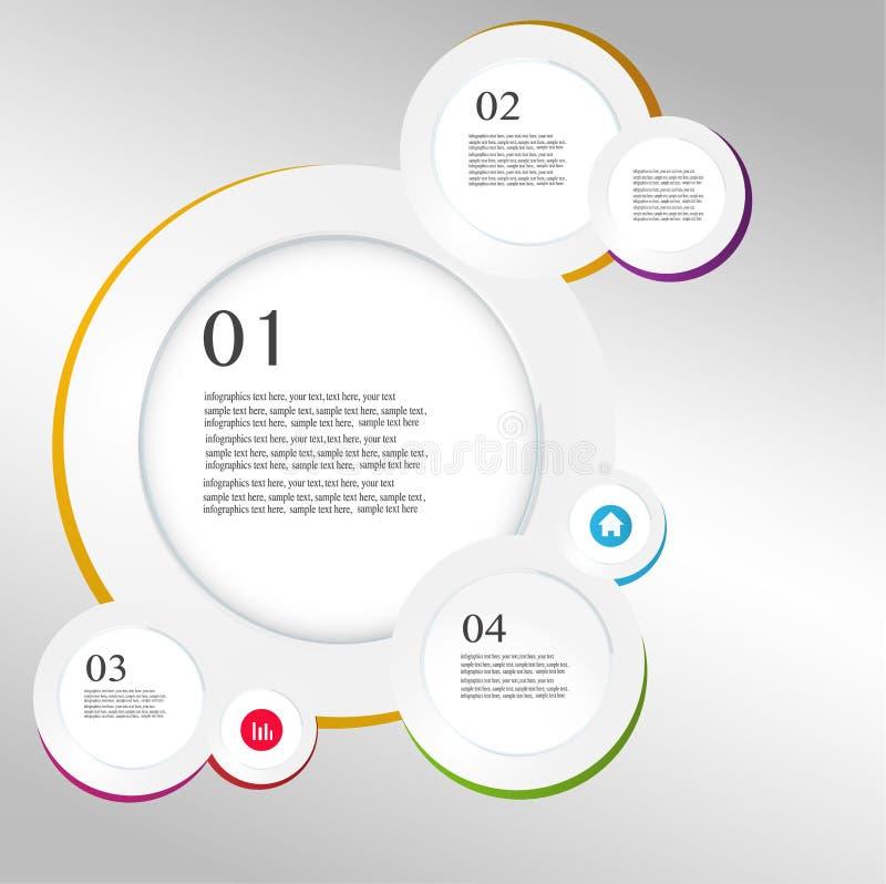 Vetor do estilo do origâmi do círculo de Infographics do negócio  ilustração do vetor