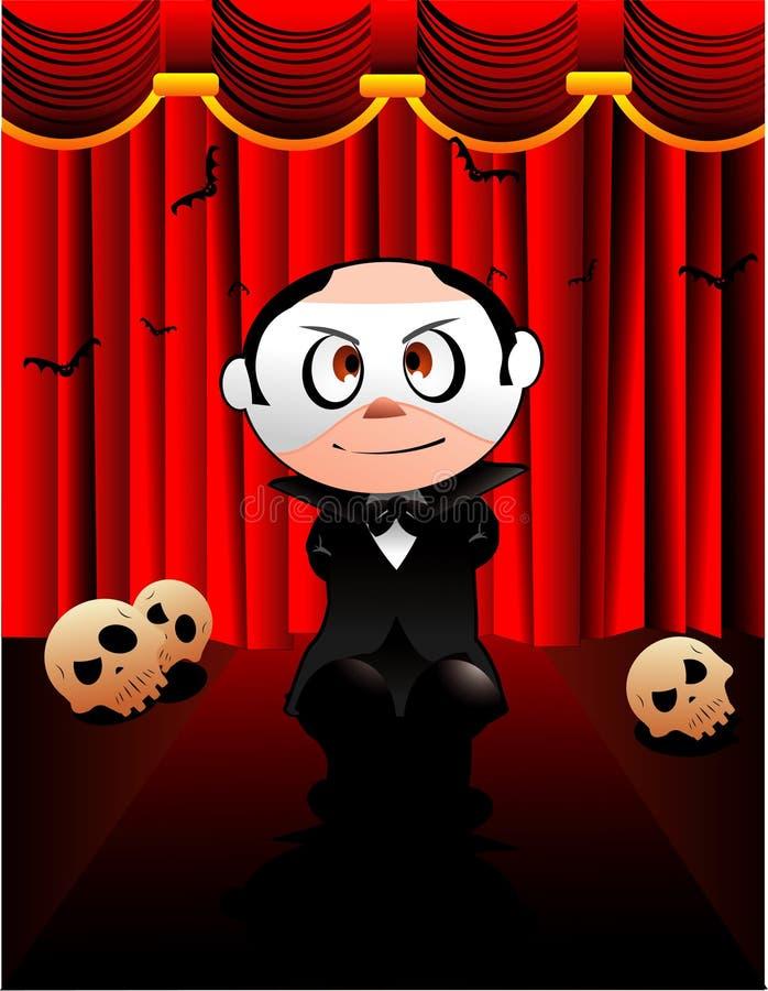 Vetor do fantasma da ópera de Halloween ilustração stock