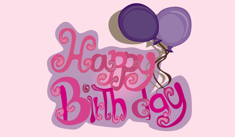 Vetor do feliz aniversario ilustração stock
