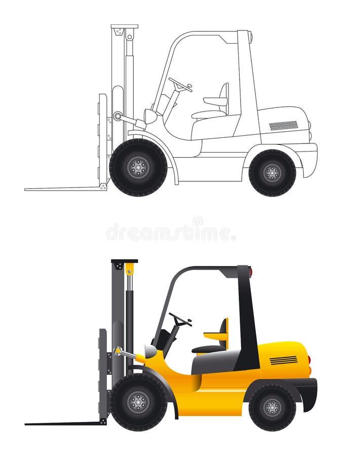 Vetor do Forklift ilustração royalty free