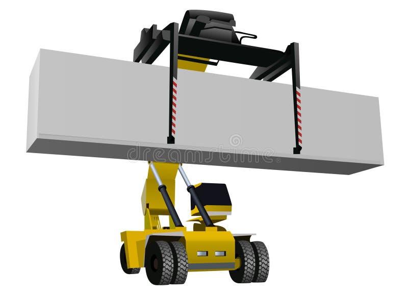 Vetor do Forklift ilustração stock