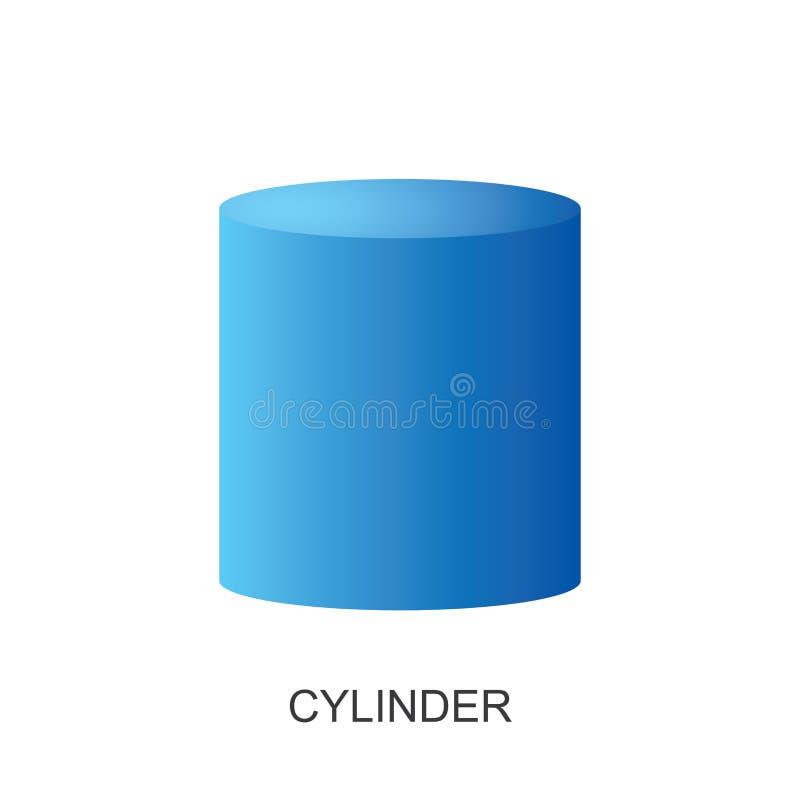 vetor do forma-CILINDRO 3d ilustração do vetor