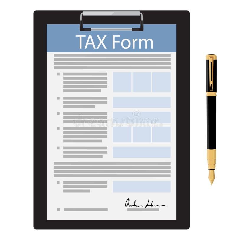 Vetor do formulário de imposto ilustração stock