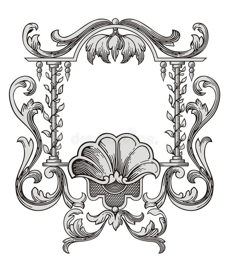 Vetor do frame da flor ilustração stock