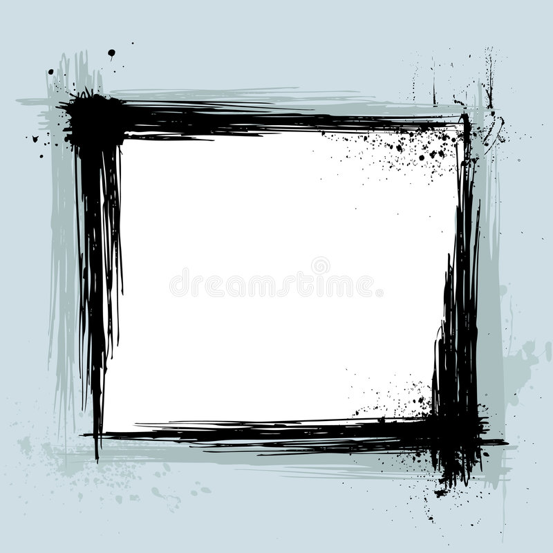 Vetor do frame de Grunge ilustração royalty free