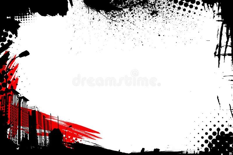 Vetor do frame de Grunge ilustração stock
