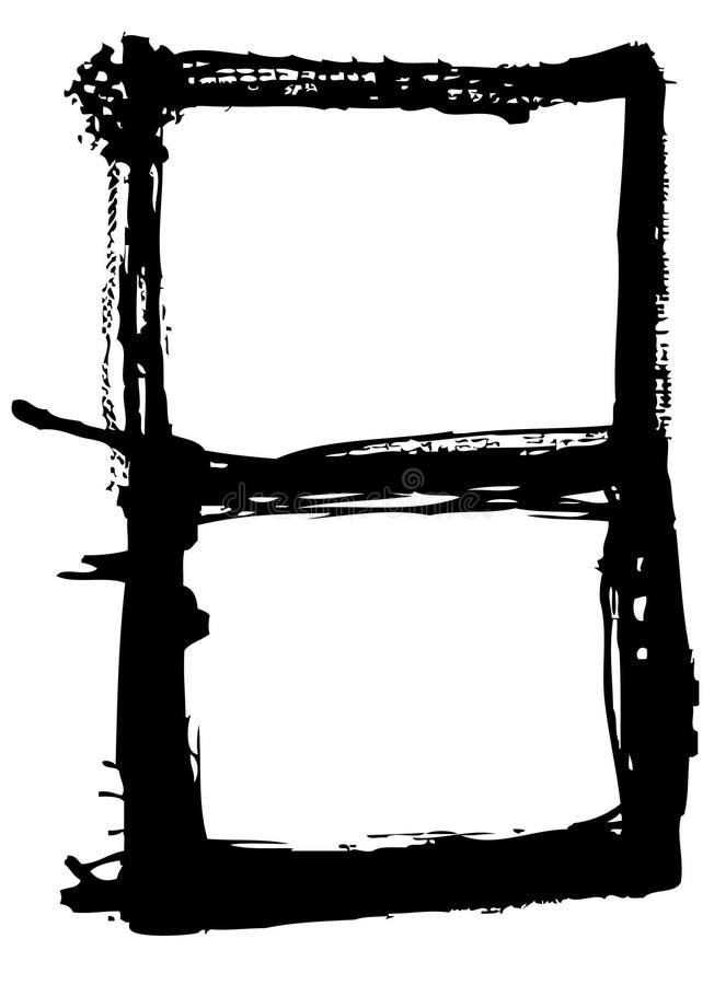 Vetor do frame de Grunge ilustração do vetor