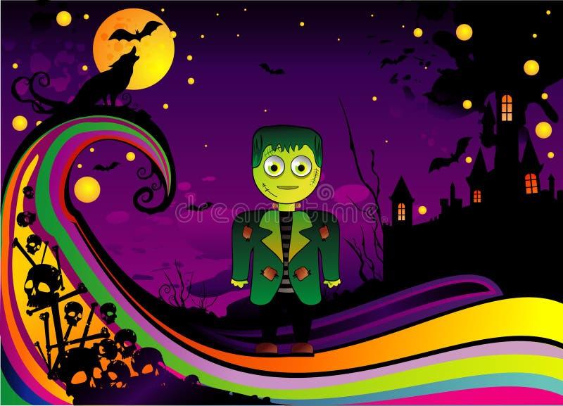 Vetor do frankenstein de Halloween ilustração stock