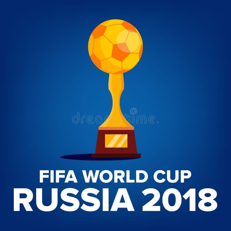 Vetor 2018 do fundo do campeonato do mundo de FIFA Boa vinda a Rússia Campeonato Rússia 2018 Projeto do competiam Ilustração ilustração stock