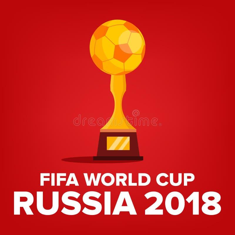 Vetor 2018 do fundo do campeonato do mundo de FIFA Evento de Rússia Fundo do campeonato do mundo Competição do fósforo Campeonato ilustração royalty free