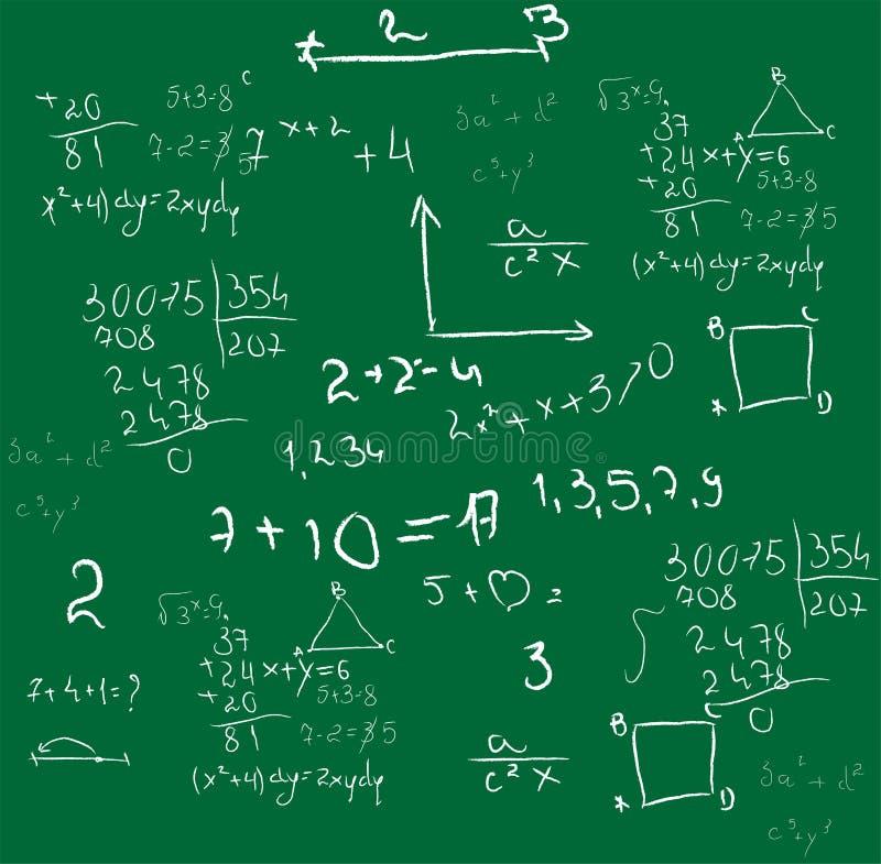 Vetor do fundo da matemática ilustração do vetor