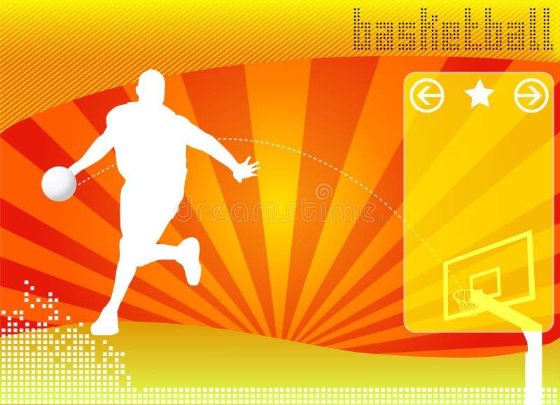 Vetor do fundo do conceito do basquetebol ilustração royalty free