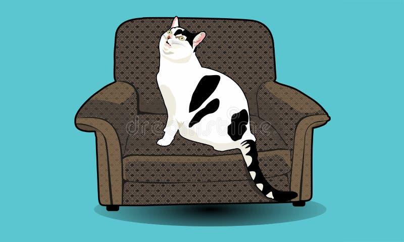 Vetor do gato imagens de stock royalty free