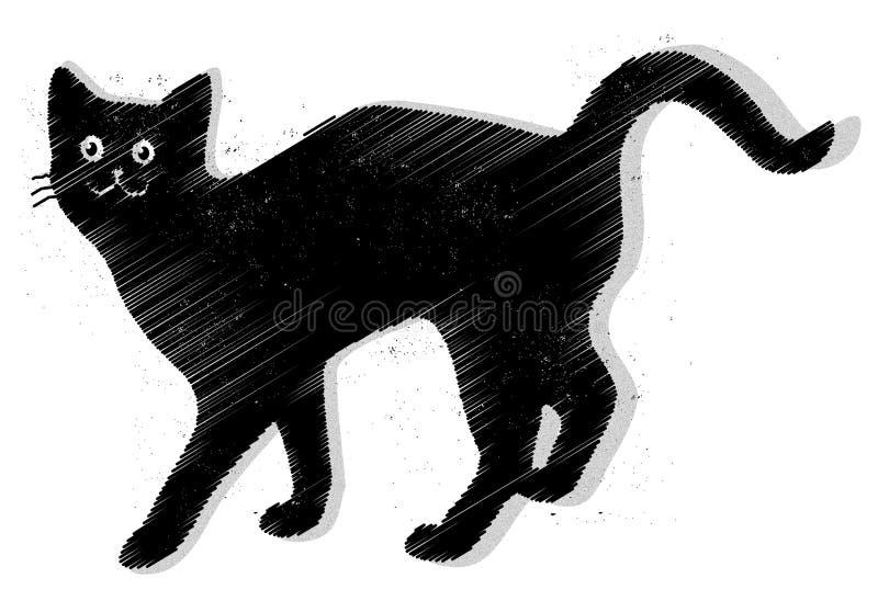 Vetor do gato preto ilustração stock