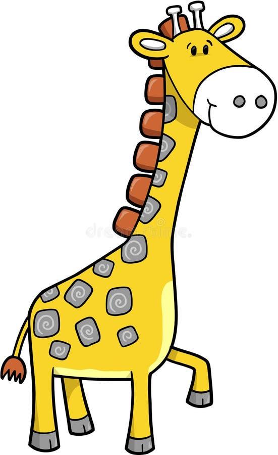 Vetor do Giraffe do safari ilustração royalty free