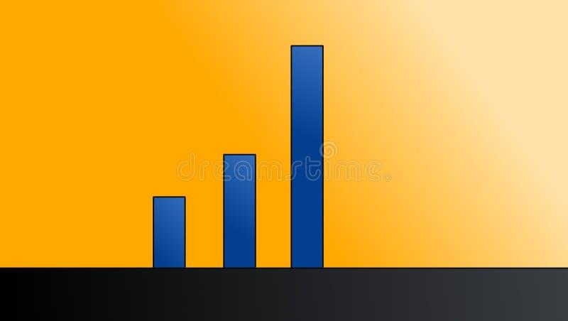 Vetor do gráfico de barra fotografia de stock