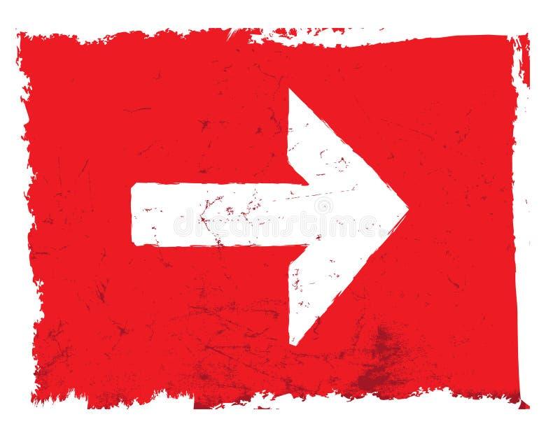 Vetor do grunge da seta, vermelho ilustração do vetor