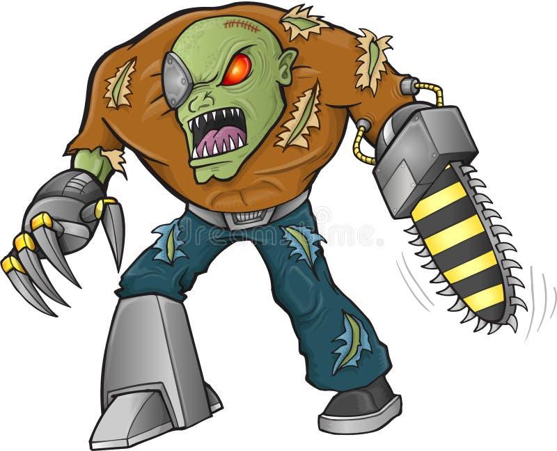 Vetor do guerreiro do zombi ilustração do vetor