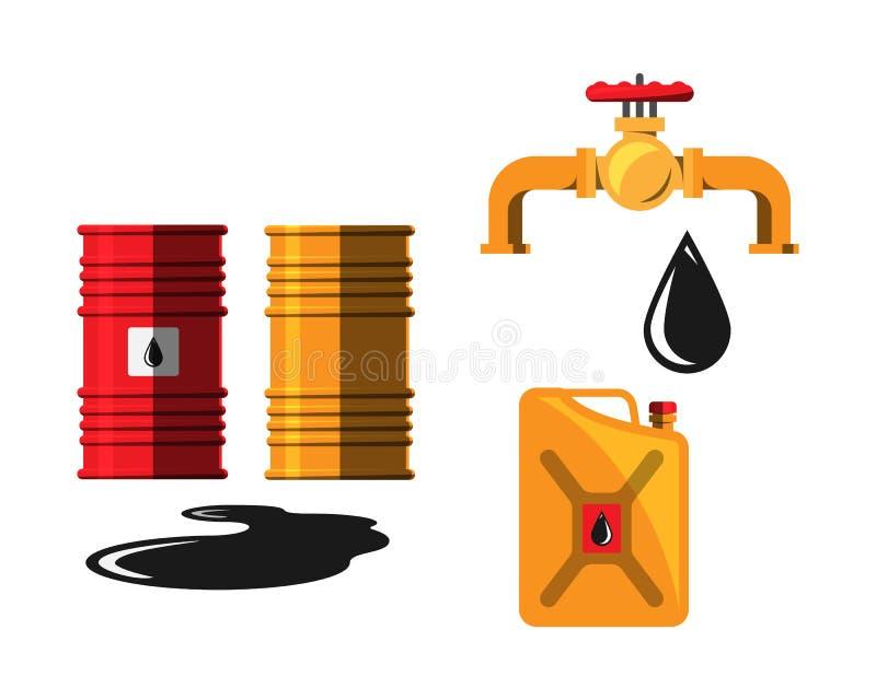 Vetor do guindaste da capacidade do tambor de óleo ilustração stock