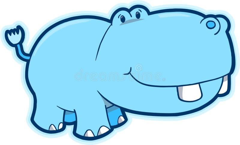 Vetor do Hippopotamus ilustração do vetor