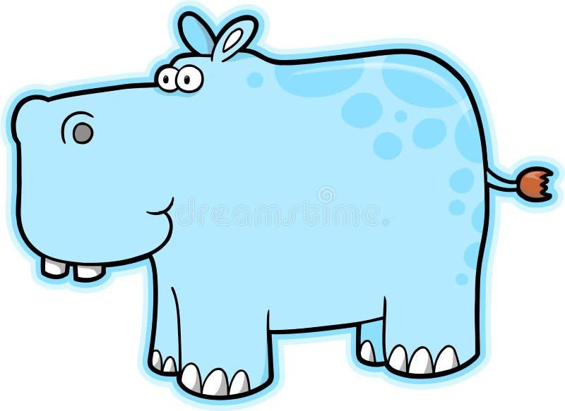 Vetor do Hippopotamus ilustração royalty free