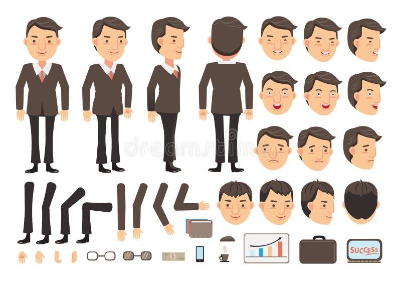 Vetor do homem de negócios ilustração do vetor