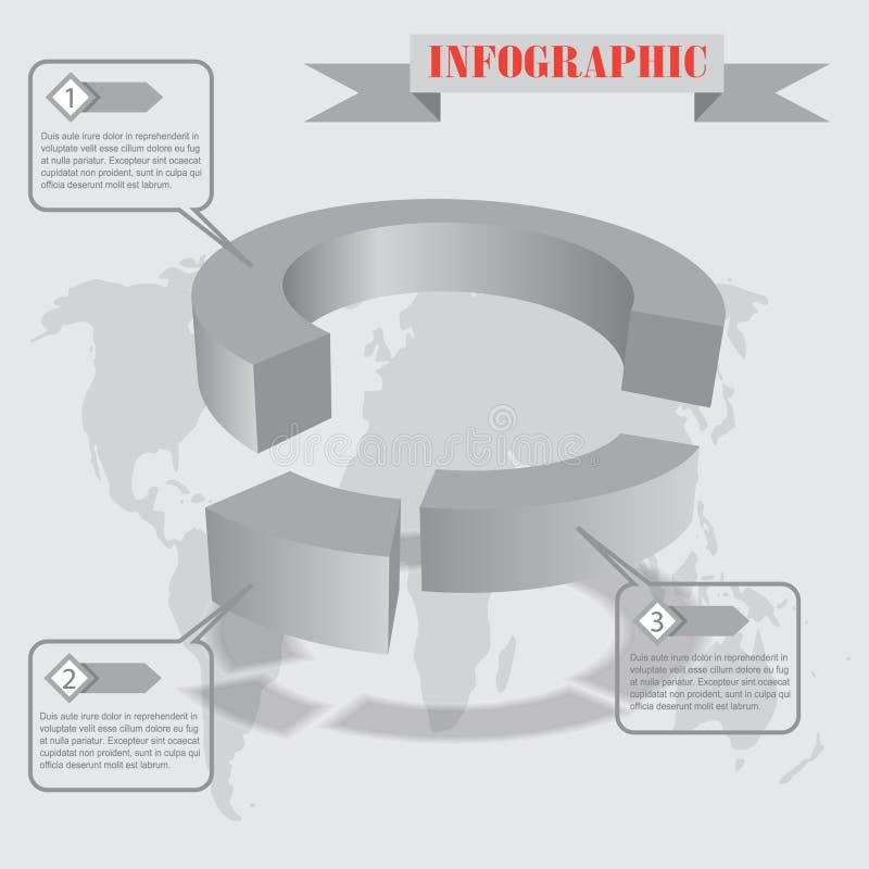 Vetor do infographics da parte ilustração stock