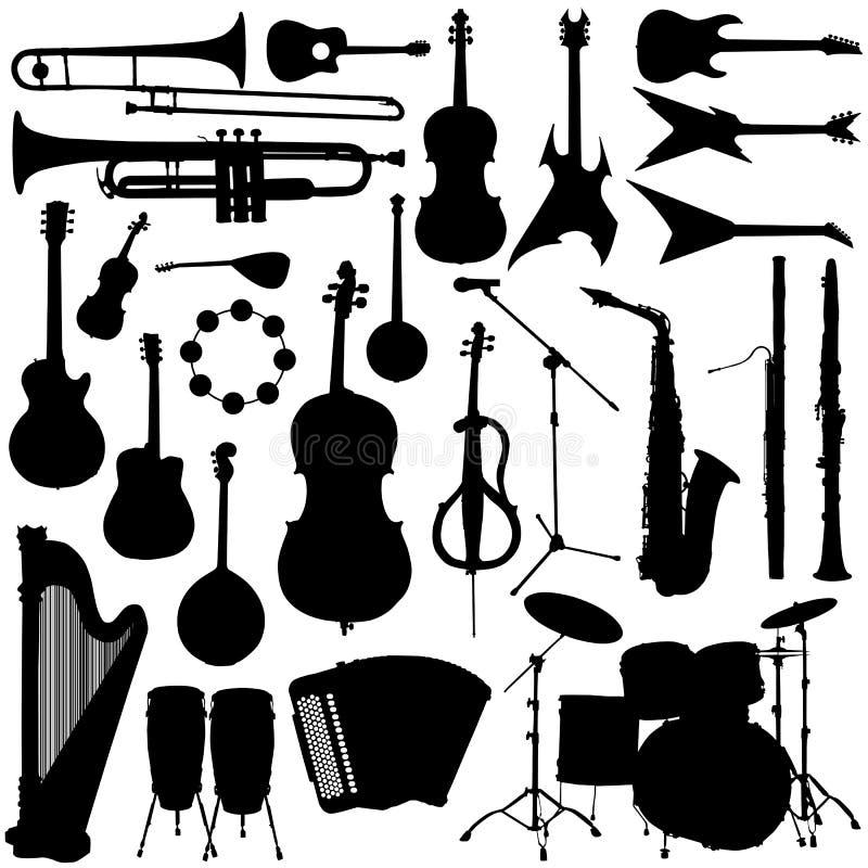 Vetor do instrumento de música ilustração royalty free