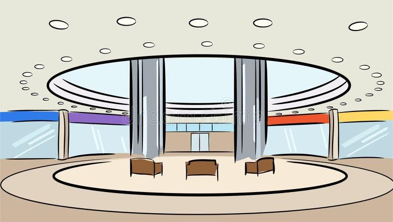 Vetor do interior da loja do mercado ilustração royalty free