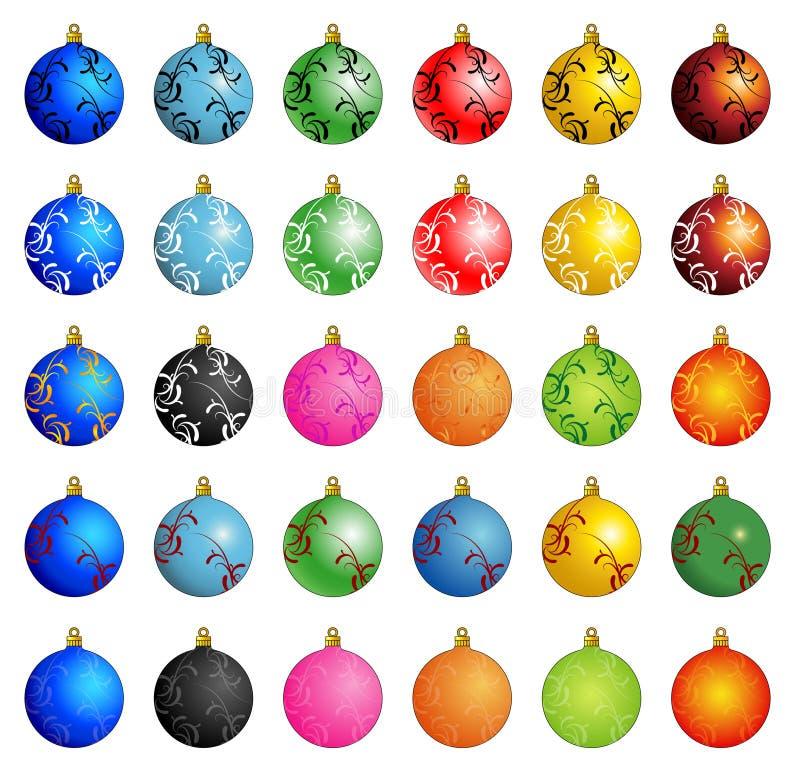 Vetor do inverno da esfera do Natal ilustração royalty free