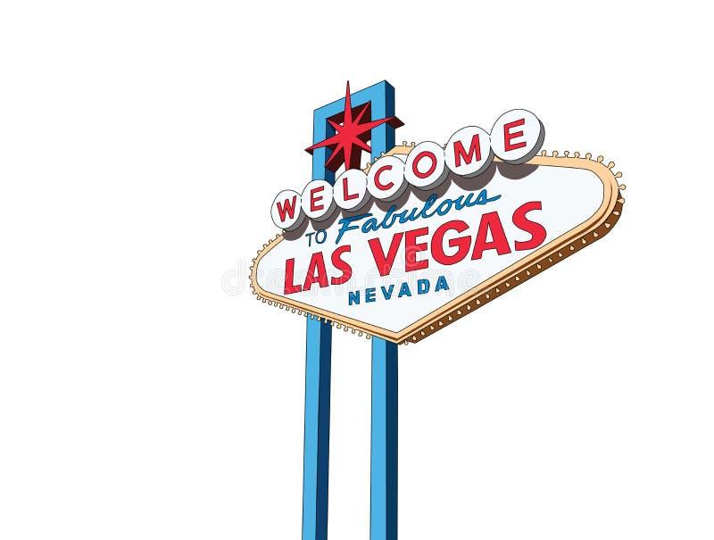 Vetor do isolamento do sinal de Las Vegas ilustração do vetor