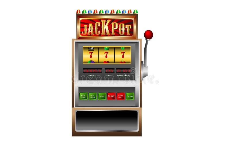 Vetor do jackpot do slot machine 777 ilustração stock