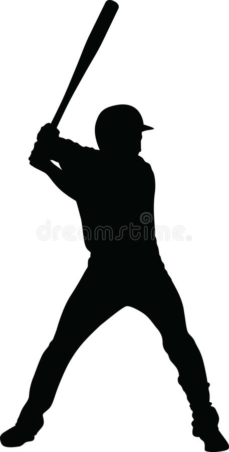 vetor do jogador de beisebol fotografia de stock