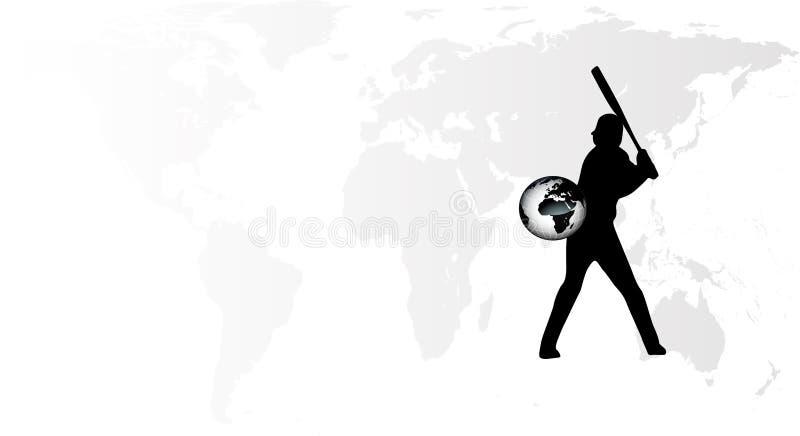 Vetor Do Jogador De Beisebol Da Terra Imagens de Stock
