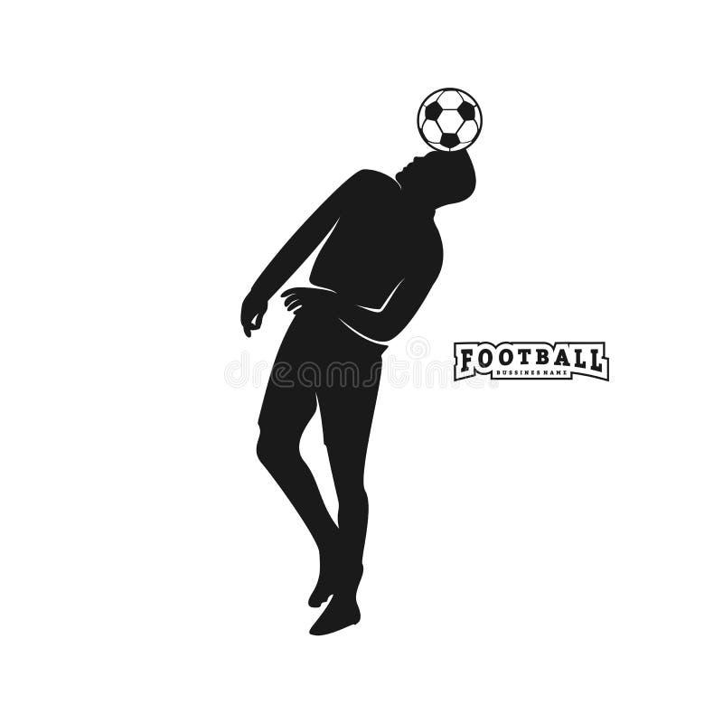 Vetor do jogador de futebol Silhueta do jogador de futebol Ilustra??o do vetor ilustração stock