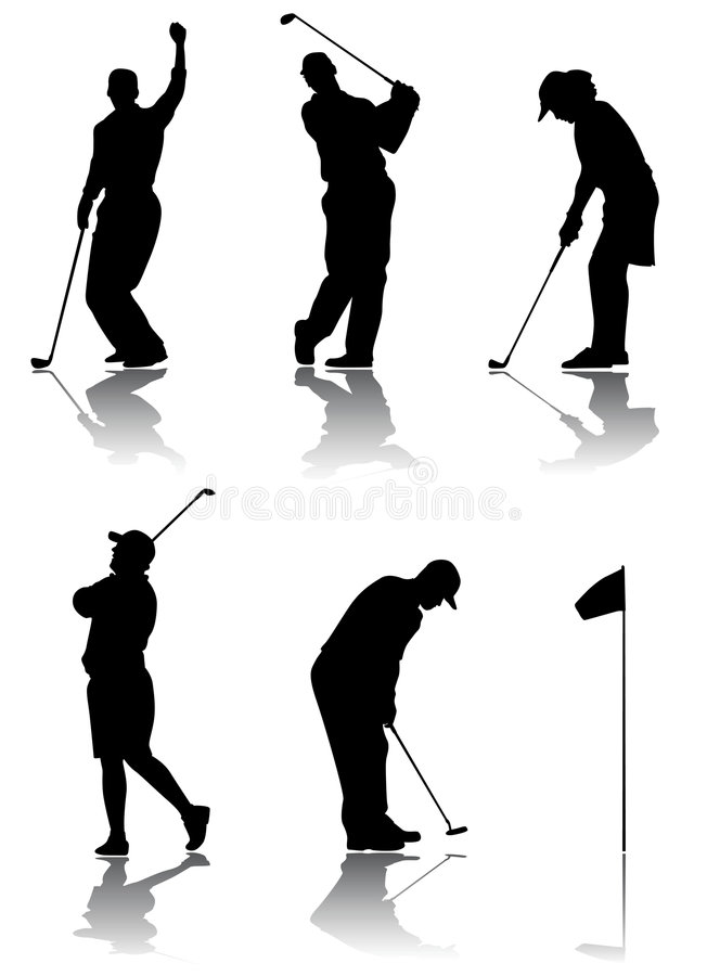 Vetor do jogador de golfe