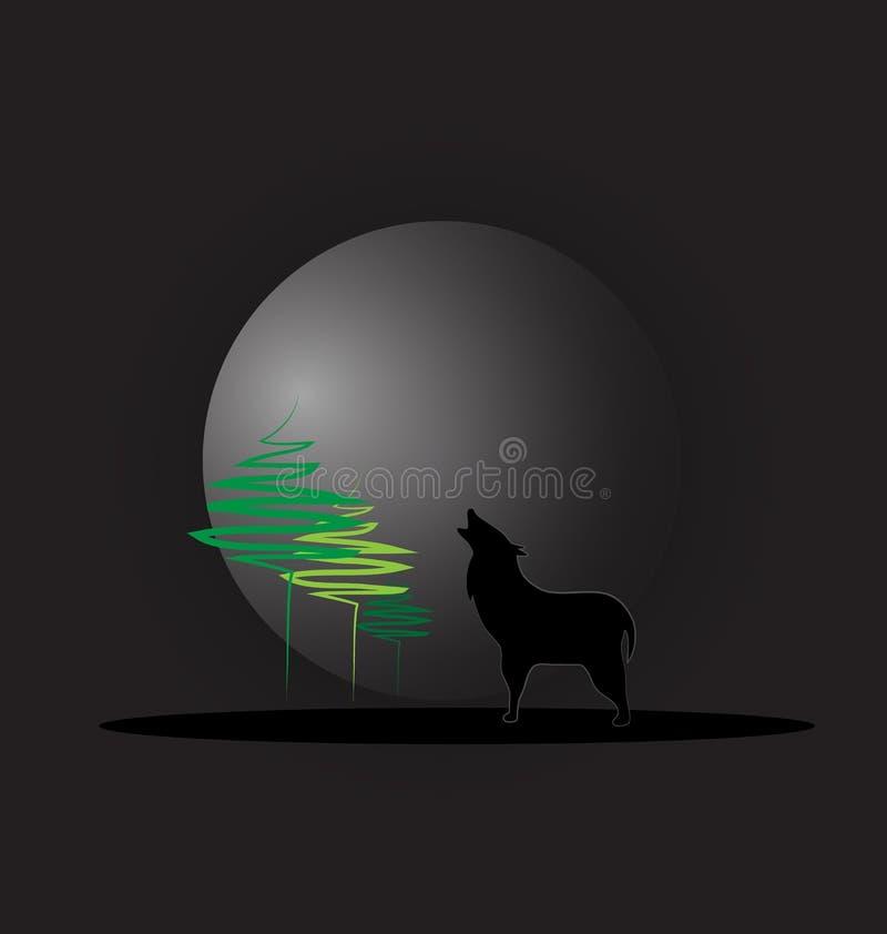 Vetor do lobo do urro ilustração stock