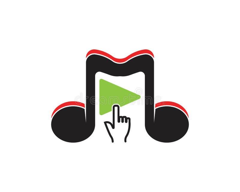 Vetor do logotipo do ícone da música do jogo ilustração royalty free