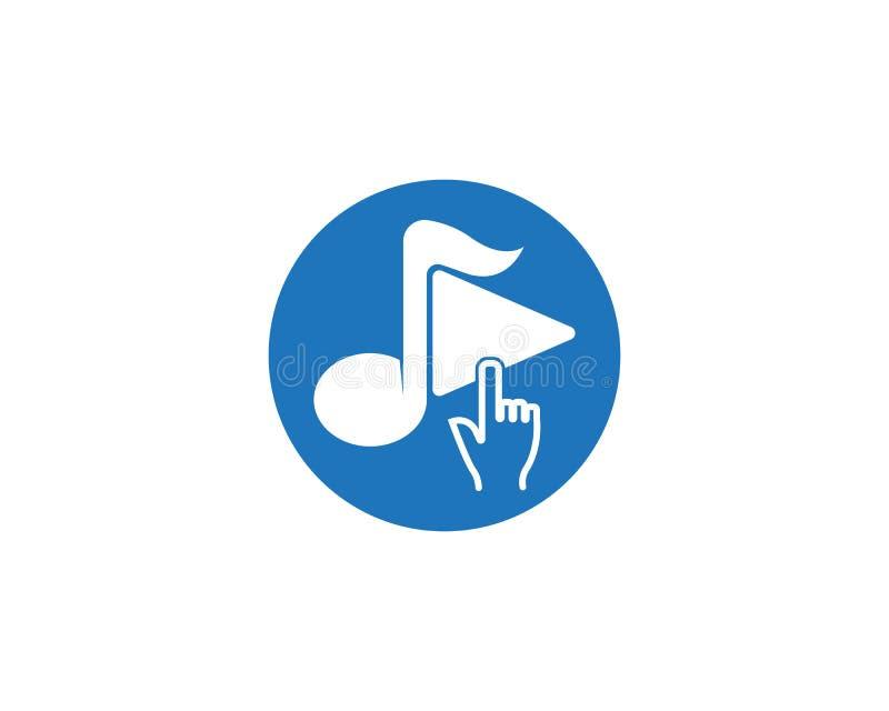 Vetor do logotipo do ícone da música do jogo ilustração stock