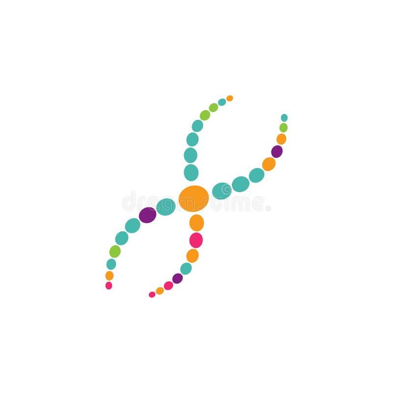 Vetor do logotipo do ADN ilustração do vetor