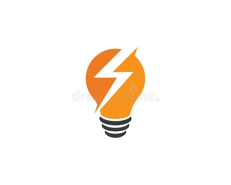 vetor do logotipo do bulbo ilustração royalty free