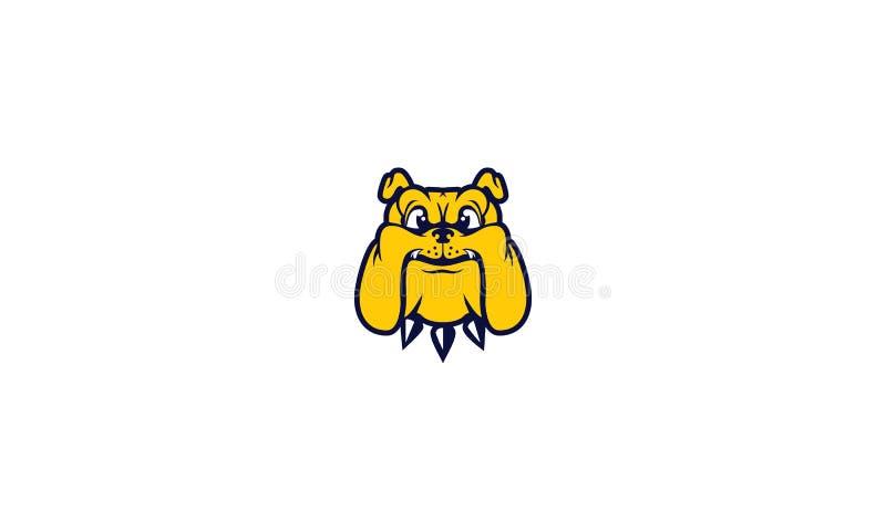 Vetor do logotipo do buldogue do cão ilustração do vetor