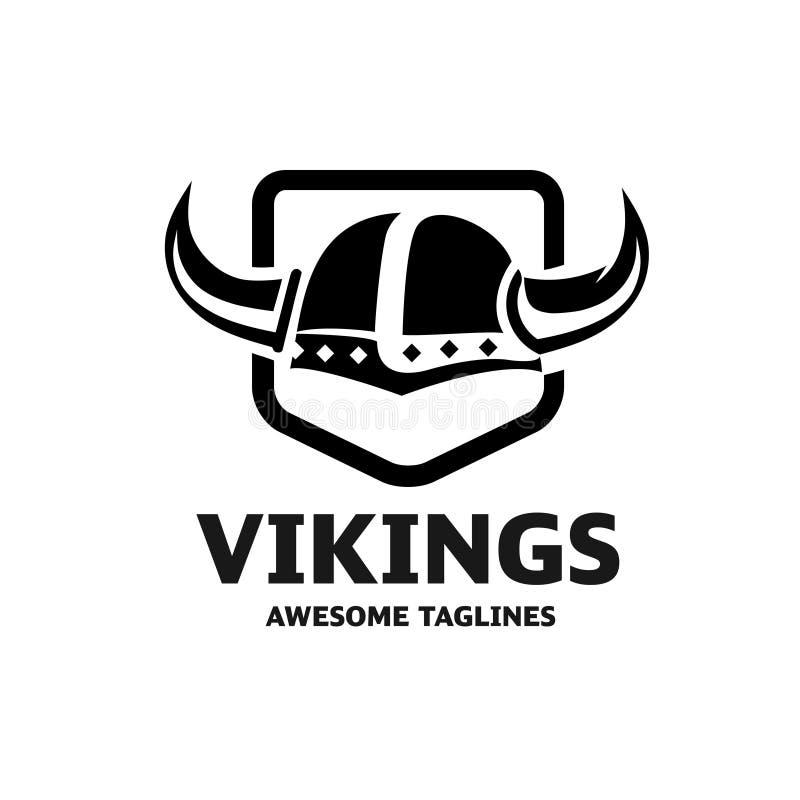 Vetor do logotipo do capacete de Viking ilustração do vetor