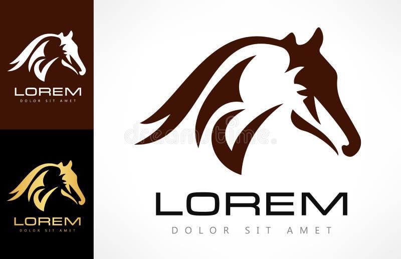 Vetor do logotipo do cavalo ilustração do vetor