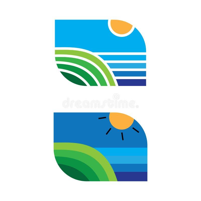 Vetor do logotipo da agricultura do Landscap ilustração royalty free
