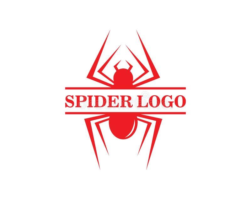 vetor do logotipo da aranha ilustração do vetor