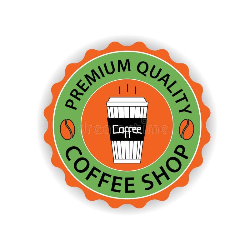 Vetor do logotipo da cafetaria, projeto do ícone do copo de café, ícone da Web ilustração stock