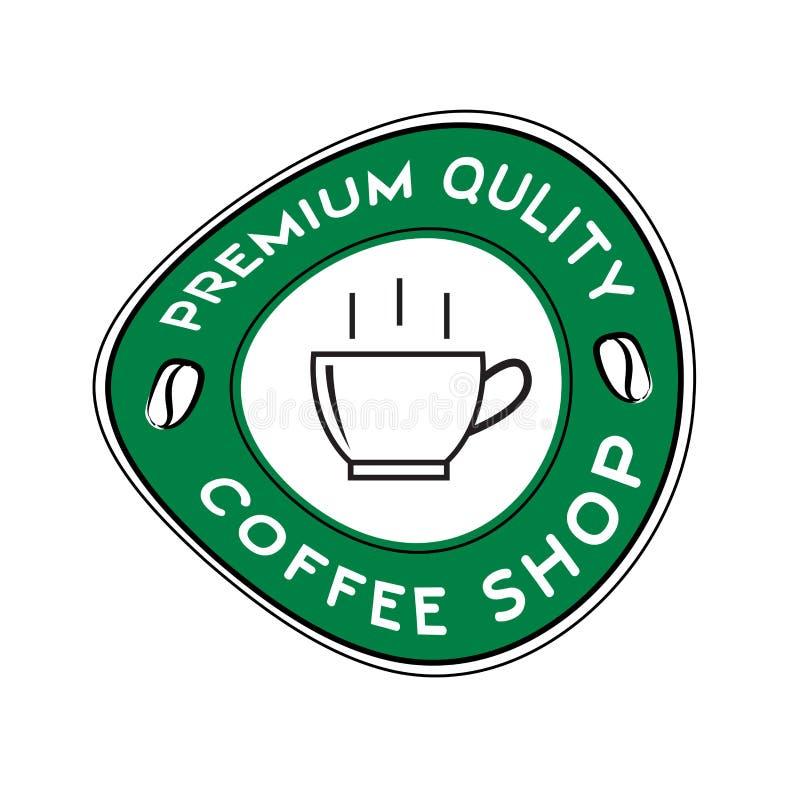 Vetor do logotipo da cafetaria, projeto do ?cone do copo de caf?, ?cone da Web ilustração stock